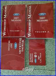 mustang maintenance repairs ltd 2007 ford mustang service shop repair manual set w wiring diagram