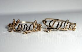 Custom Name Ring Gold Fill Personalized Name Ring