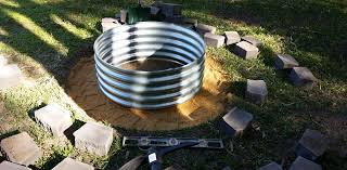 fire pit sand my fire pit build project using retaining wall blocks u0026 galvanised