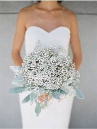 baby s breath bouquets eucalyptus bouquet baby s breathe bouquet white bridesmaid
