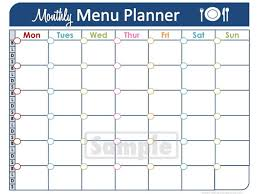 monthly meal calendar template 28 images 2016 monthly menu