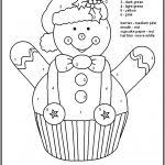 color by numbers christmas coloring pages free color number