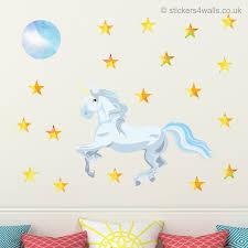 seaside wall stickers stickers4walls unicorn wall sticker set