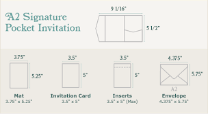 wedding invitation size a2 signature pocket invitation sizing print dimensions
