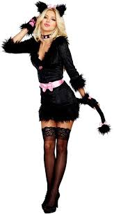 Dreamgirls Halloween Costumes Dreamgirl Cattitude Cat Kitten Pink Bow Women Halloween Costume