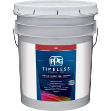 Exterior Paint With Primer Reviews - ppg timeless 5 gal pure white base 1 flat exterior paint with