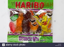 free halloween images on white background packet of haribo horror mix minis sweets ready for halloween set