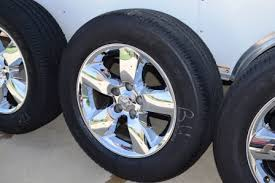 dodge ram 1500 wheels and tires dodge ram 1500 20 inch oem factory chrome clad wheels tire package