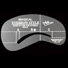 2017 new 24pcs Eyebrow shaping eyebrow card artifact word mink false