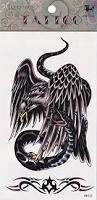 amazon com temporary tattoo eagle and snake tattoo toys u0026 games