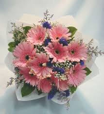 gerbera bouquet gift of cheerfulness 10 pink gerberas bouquet