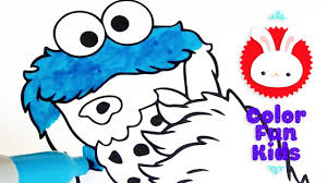 color fun kids cookie monster u0026 oscar coloring book pages video