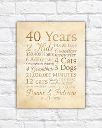 traditional 50th anniversary gift best 25 40th anniversary gifts ideas on 40th wedding