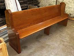 Antique Oak Drafting Table by Antique Oak Church Pew With Simple Design Olde Good Things