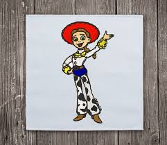 jessie yodeling cowgirl toy story embroidery machine design