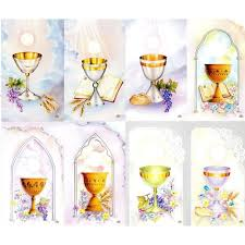 communion chalice personalized prayer cards priced per card