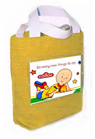 caillou party supplies caillou birthday party favor bag canvas fabric cloth tote for party