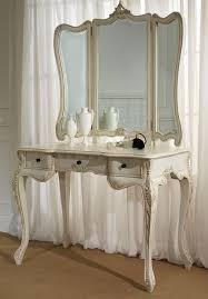 Vanity Folding Mirror Vanity Table With Tri Fold Mirror U2013 Elegant Bedroom Furniture