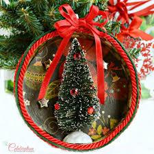 paper mache shadowbox ornament miss celebration