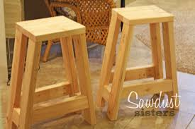 Woodworking Stool Plans For Free diy barstool using only 2x4s sawdust sisters