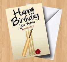 personalised cricket any name age birthday card ebay