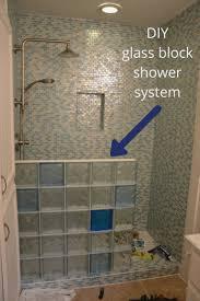 Glass Block Bathroom Designs Bathroom Creative Glass Block Showers Small Bathrooms Design