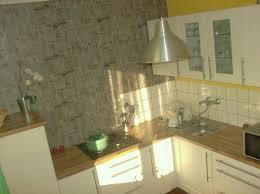 papier peint cuisine gris papier peint effet brique de parement photo 1 6 3502536