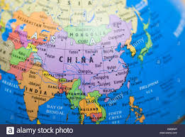 china on a map map of china on a globe stock photo royalty free image