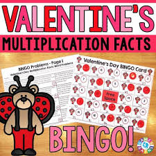 s day bingo s day math bingo multiplication facts 4 gains