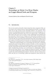 traceology on metal use wear marks on copper based tools and