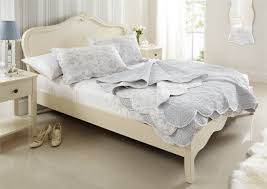 White Wood King Bed Frame White Wood Bed White Bed