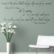 details about one direction little things lyrics wall sticker details about one direction little things lyrics wall sticker mural decal diy