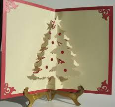christmas tree pop up cards christmas lights decoration