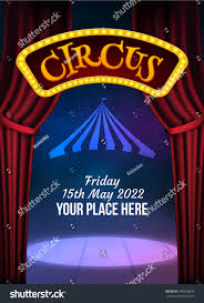 circus show poster template sign light stock vector 496599037