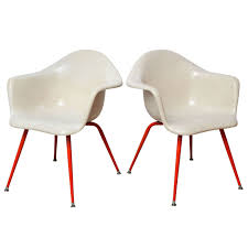 Eames Fiberglass Rocking Chair Mid Century Vintage Eames Era Fiberglass Shell Arm Chairs By