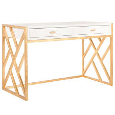 white and gold office desk worlds away cordelia white and gold desk zinc door