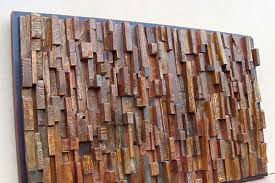 artwork made using recycled wood installation projects by
