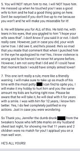 mother writes angry letter to husband u0027s mistress after finding out