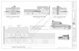 home blueprint country style porch house plans blueprints construction documents