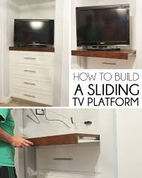 How To Build A Display Cabinet by Remodelaholic 95 Ways To Hide Or Decorate Around The Tv