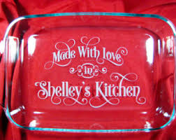 engraved dishes custom etched pyrex baking dish