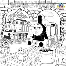 thomas color pages the train coloring and friends at omeletta me
