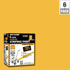 rust oleum professional 18 oz flat yellow striping spray paint 6