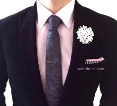 lapel flower lapel flower polka dots white black suitedman