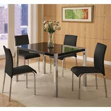 black dining room sets nouvaro marble dining table with 4 chairs in black and intended