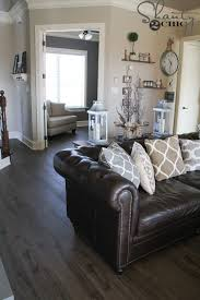 Living Room Brown Leather Sofa Living Room Design Contemporary Living Rooms Gray Room