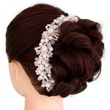 handmade tiaras wedding hair accessories pearl handmade headbands bridal