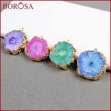 quartz necklace aliexpress images Borosa wholesale gold solar quartz pendant beads for necklace jpg