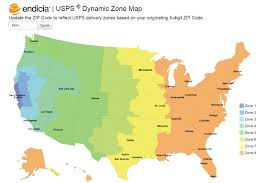 Image Of United States Map Endicia U0027s Dynamic Zone Map Takes The Guesswork Out Of Delivery