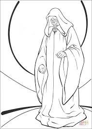 star wars emperor palpatine coloring free printable